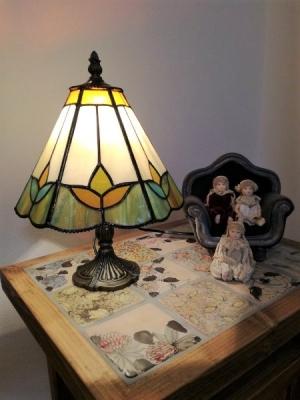 ステンドグラス ランプ タイルモザイク
