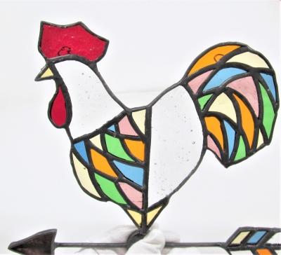 ステンドグラス 風見鶏 チャイム