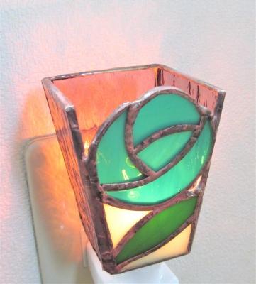 ステンドグラス薔薇 ランプ