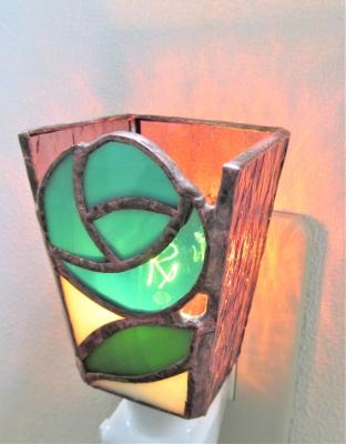 ステンドグラス バラ 花 ランプ