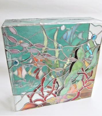 ステンドグラス 水槽 アクアリウム