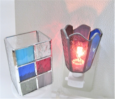 ステンドグラス体験 ランプ キャンドルホルダー