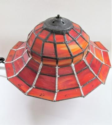 ステンドグラス 兜 ランプ