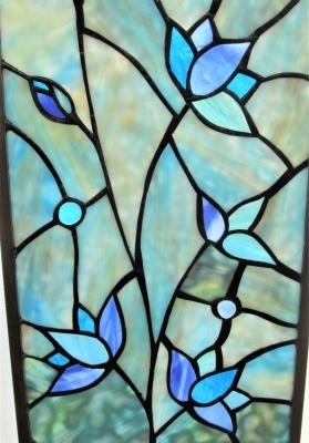 ステンドグラス窓 花