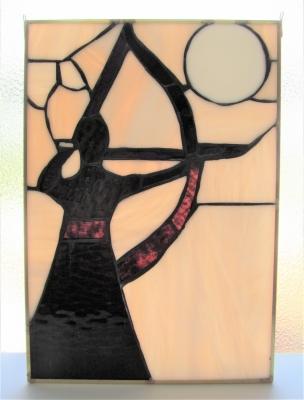 ステンドグラス 弓道 和弓