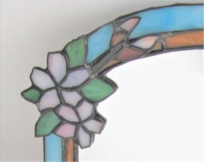 ステンドグラス ミラー 文鳥 桜