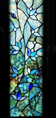 ステンドグラス花 窓