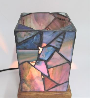 ステンドグラスランプ モザイク 行灯