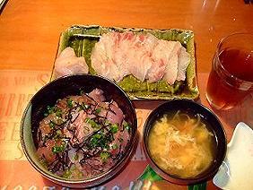 マグロ丼とお刺身