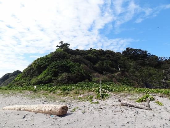 沖の島 上陸