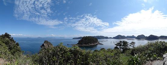 沖の島からパノラマ風景