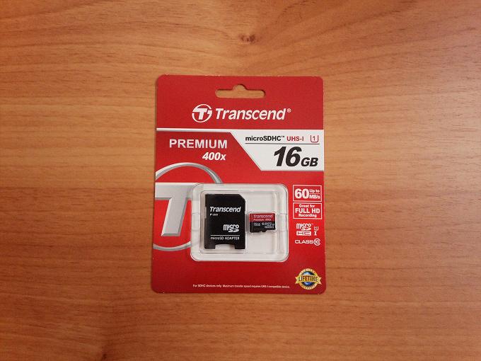 トランセンド microSD TS16GUSDU1