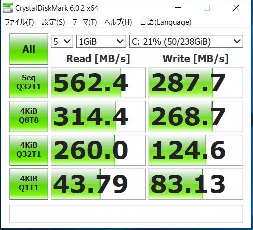 intel 545s 256gb CrystalDiskMark
