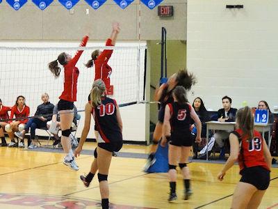 カナダの高校 女子バレーボール 01