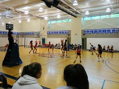 カナダの高校 女子バレーボール 05