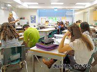 カナダの高校 英語クラス
