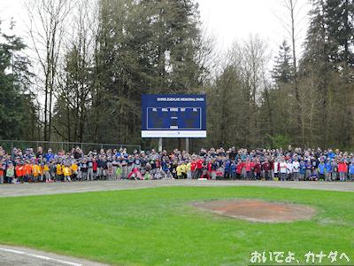 カナダ 子供の野球 開会式 01