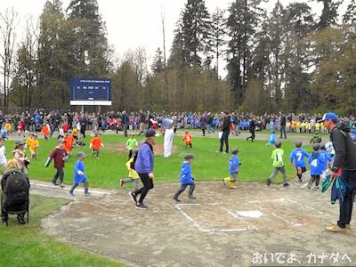 カナダ 子供の野球 開会式 04