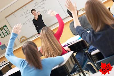 カナダの高校 クラスルーム