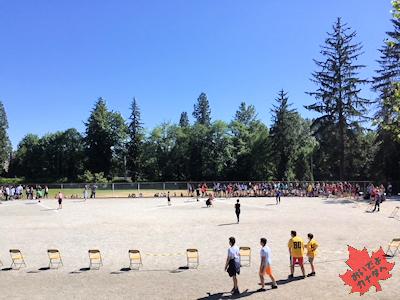 カナダの小学校 陸上競技大会01 04
