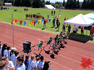 陸上競技 カナダの小学校 02