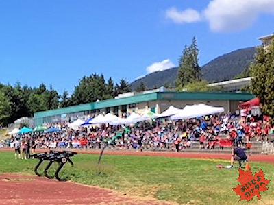陸上競技 カナダの小学校 05