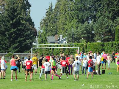 カナダの学校 グループ対抗ゲーム