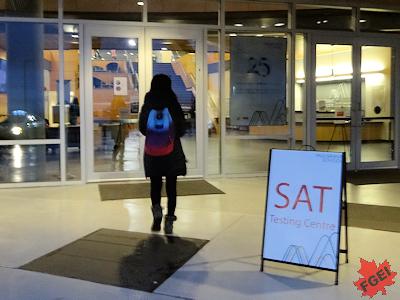 留学生をSATの会場に連れて行った