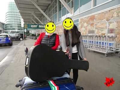 留学生と空港でお別れ Hちゃん日本へ