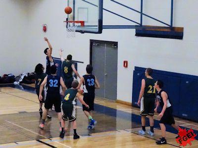 カナダの高校 男子バスケットボールの試合