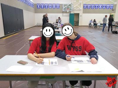 ボランティア活動をする留学生