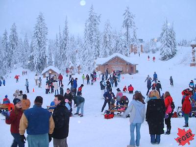 冬のグラウス山