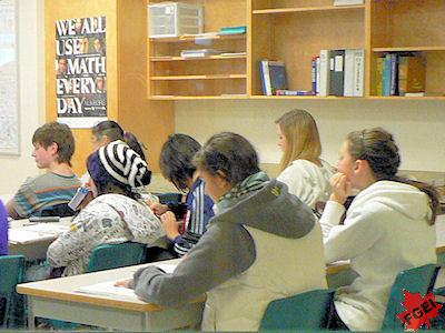 カナダの高校の教室