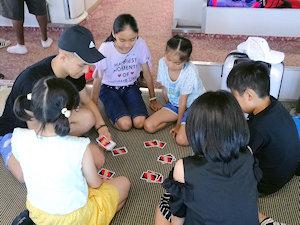 あずき王国 フェリーの中で先生と遊ぶ