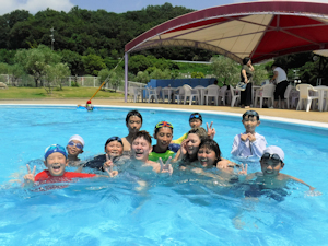 あずき王国 プールで楽しむ