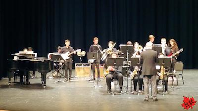 カナダの高校 最後のコンサート ジャズバンド