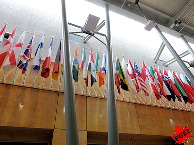 世界中から留学生が集まるオリエンテーション