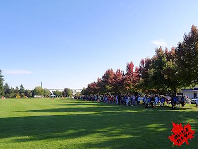 クロスカントリーレースが行われるアンブルサイド公園
