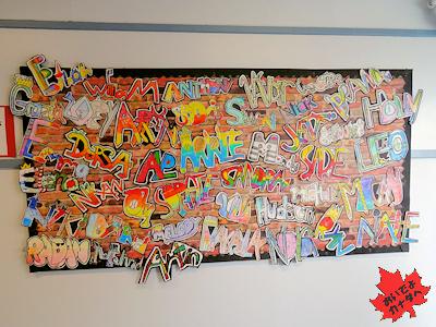 カナダの小学生の作品