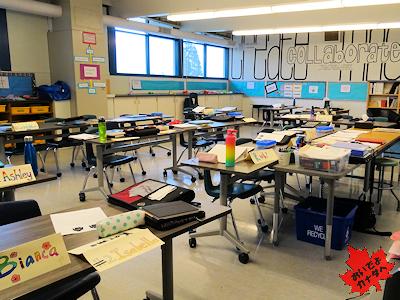 カナダの小学校の教室