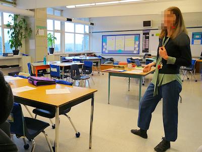 カナダの小学校の先生