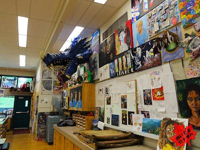 美術教室(カナダの高校)