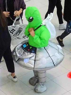 ハロウィーン コスチューム UFOと宇宙人