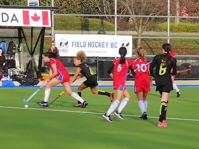 カナダの高校 女子フィールドホッケー トーナメント