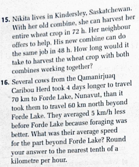 カナダの数学11 文章問題