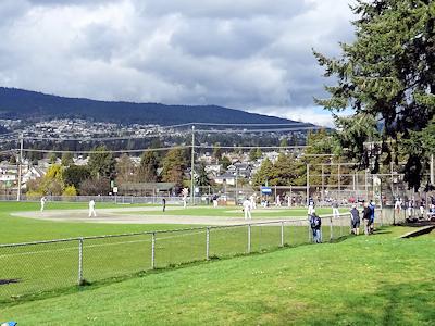 去年の野球場