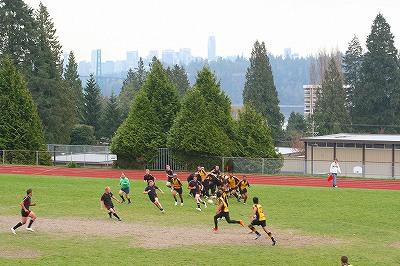 カナダの高校生対NZの高校生(ラグビー)