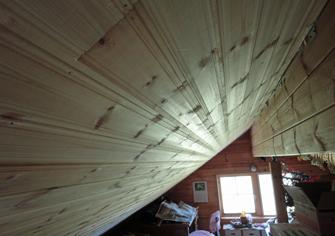 工房北側天井板張り1