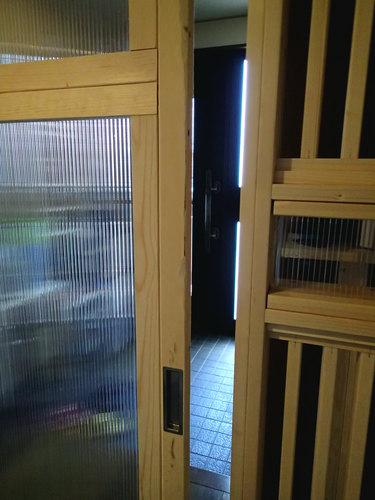 猫・脱走防止用玄関2重扉20160519-2