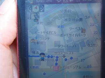 GPSナビ画面